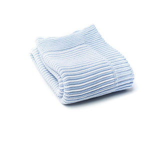 A Soft Idea - Stripe Blanket - Blue & White