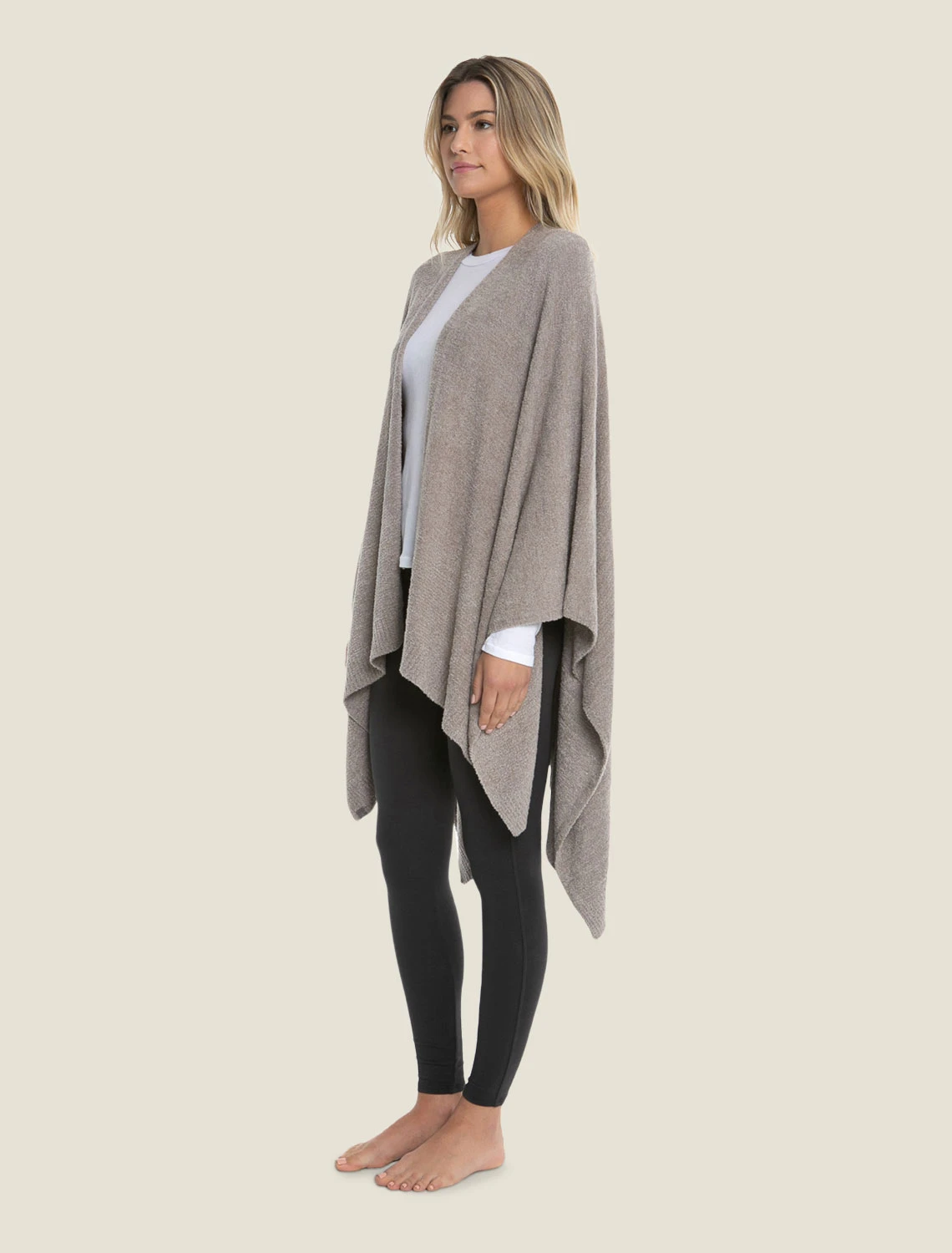 Barefoot Dreams - CozyChic Lite® Weekend Wrap - Heathered Driftwood /Taupe