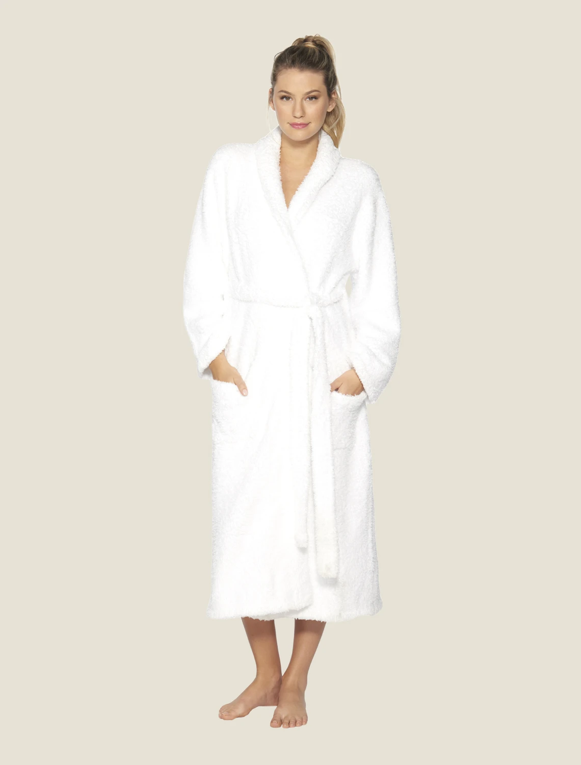 Barefoot Dreams - Cozychic Adult Robe - White - Size 1