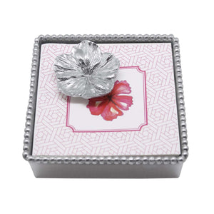 Mariposa - Hibiscus Beaded Napkin Box