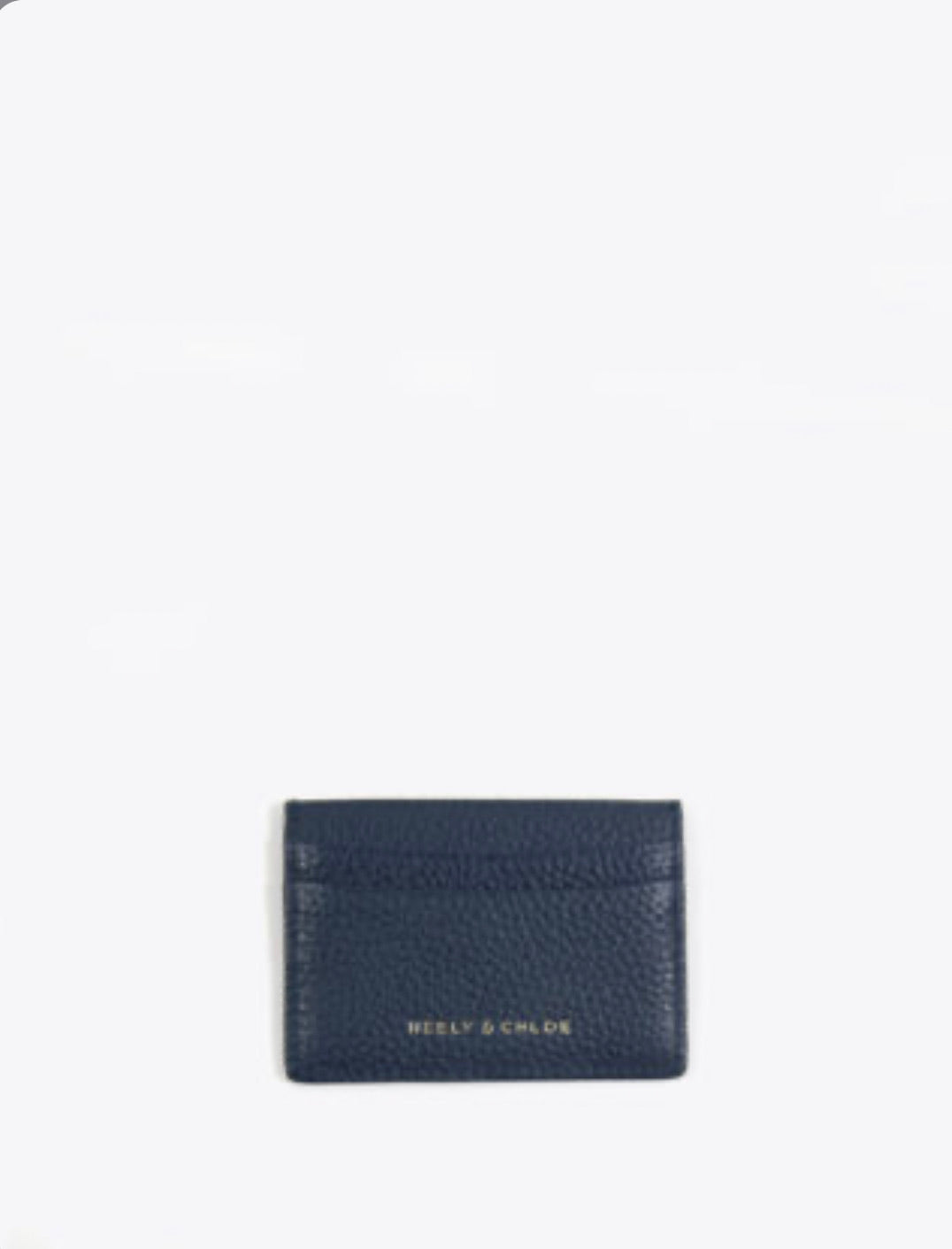 Neely & Chloe - No. 12 The Card Case Saffiano - Navy