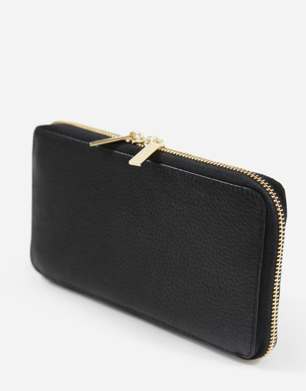 Neely & Chloe - No. 48 The Zip Wallet Pebble - Black