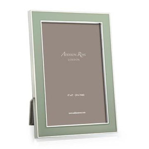 Addison Ross - Frame - Pale Sage Green Enamel & Silver