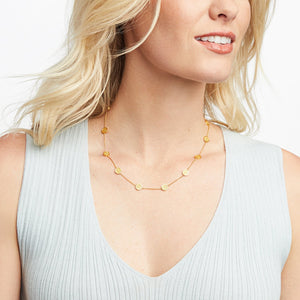 Julie Vos - Valencia Delicate Station Necklace Gold