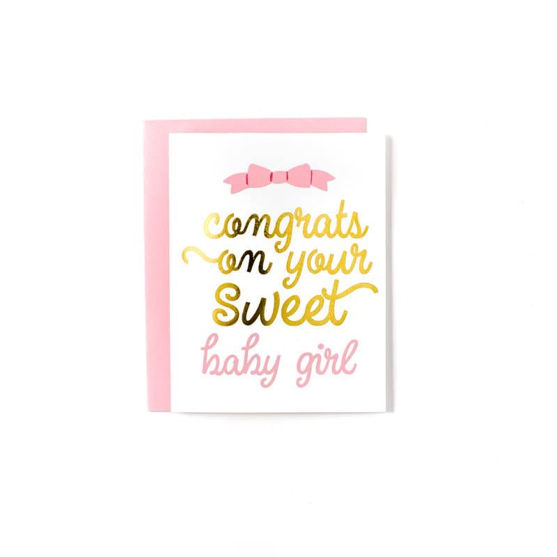 Sweet Caroline Design - Baby Girl Greeting Card
