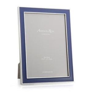 Addison Ross - Navy Blue Enamel & Silver Frame
