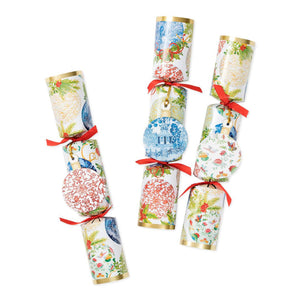 Caspari -  Porcelain Ornaments Celebration Christmas Crackers - 6 Per Box