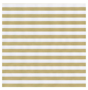 "Caspari - Club Stripe Reversible Gift Wrapping Paper in Gold & Silver - 30"" x 8' Roll"