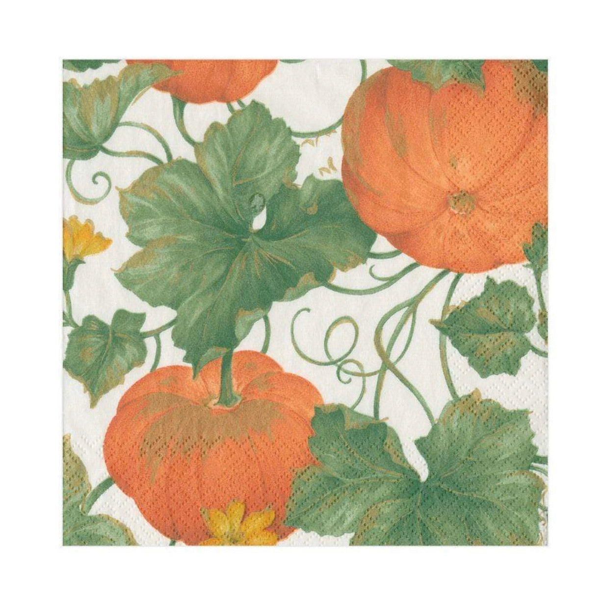 Caspari - Heirloom Pumpkins Ivory/Orange - Napkin Luncheon