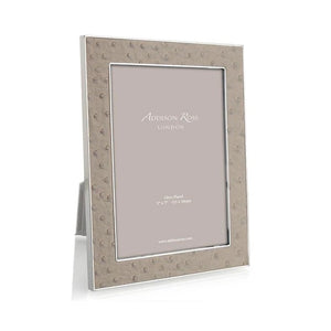 Addison Ross - 4x6 Shadow Ostrich & Silver Frame