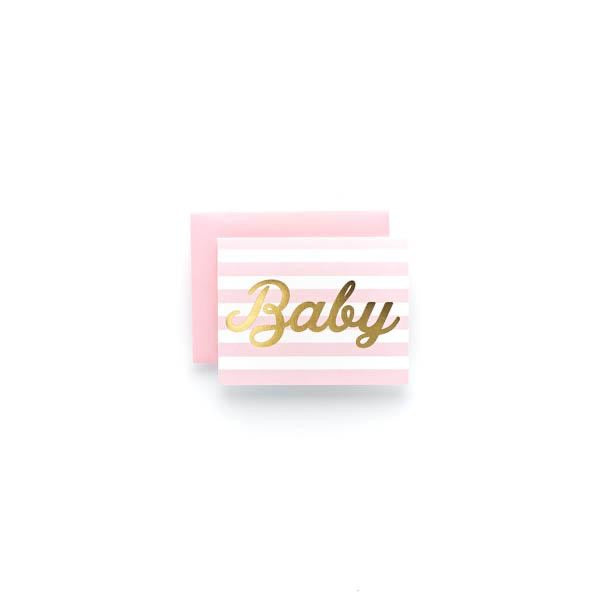 Sweet Caroline Design - Baby Girl Stripe Greeting Card