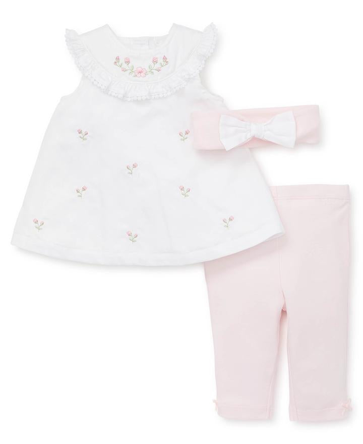 Little Me - Blossom Garden - Pants Set