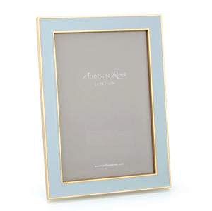 Addison Ross - Powder Blue Enamel & Gold Frame