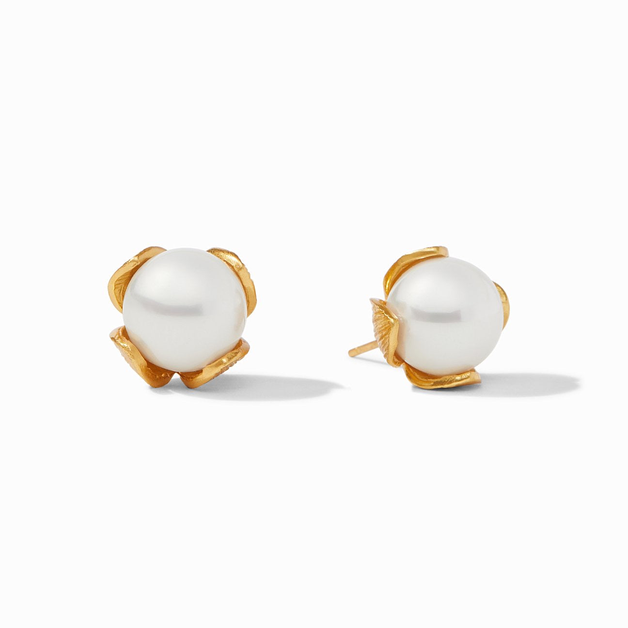 Julie Vos - Penelope Stud Gold Pearl Small