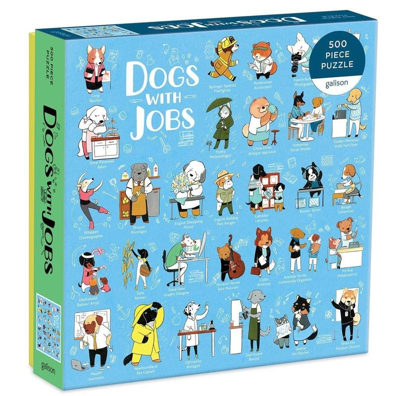 Hachette Book Group - Dogs With Jobs 500 Piece Puzzle