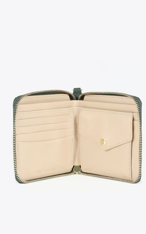 Neely & Chloe - No. 53 The Billfold Pebble - Forest Green