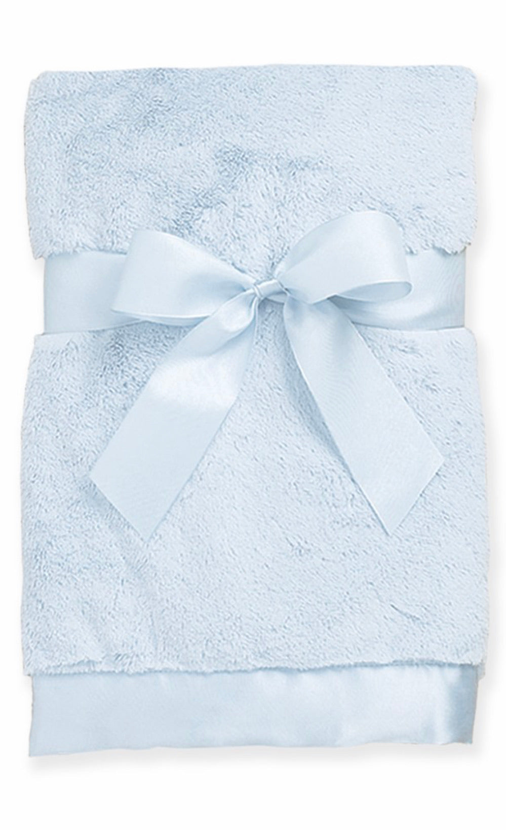 "Bearington Baby - Light Blue Silky Soft Crib Blanket, 36"" x 29"""