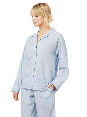 The Cat's Pajamas - Blue Luxe Pima Long