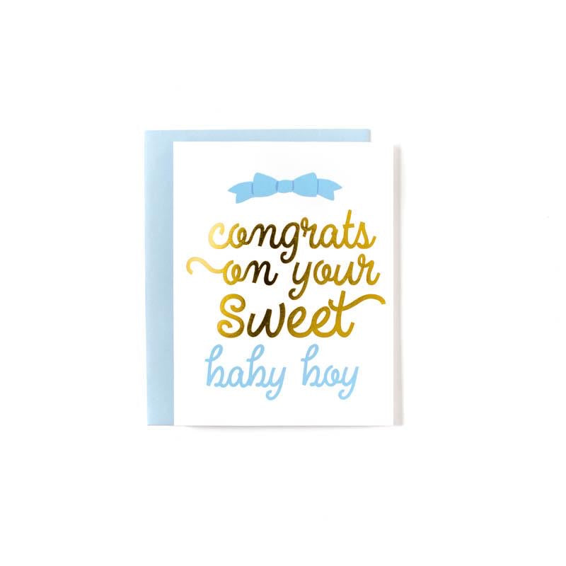 Sweet Caroline Design - Baby Boy Greeting Card