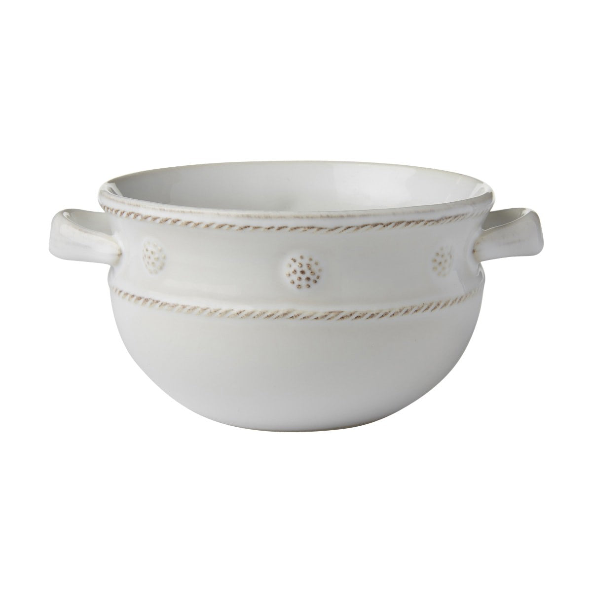 "Juliska - 2 Handled Soup/Chill Bowl B&T White 5.5""W"