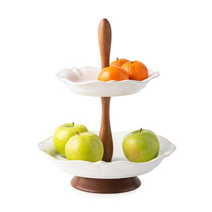 Juliska - Berry & Thread Whitewash Tiered Serving Stand