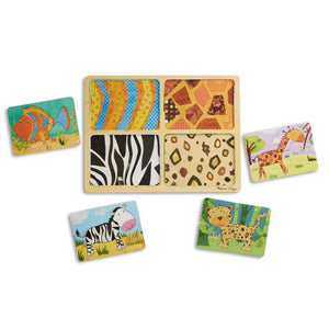 Melissa & Doug - Natural Play Wooden Puzzle: Animal Patterns
