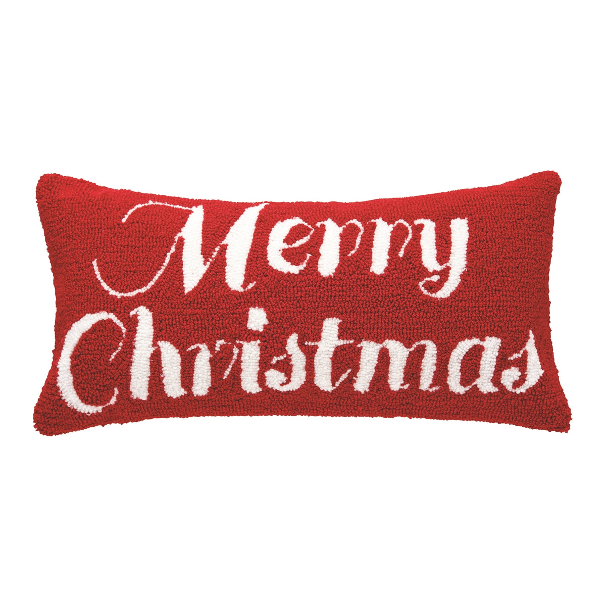 C & F - Merry Christmas Hooked Pillow