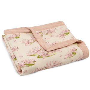 "Milkbarn - 36"" x 36"" Bamboo Big Lovey Water Lily Blanket"