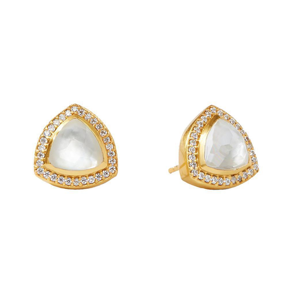 Julie Vos - Paris Luxe Triangle Stud Earrings - Pearl