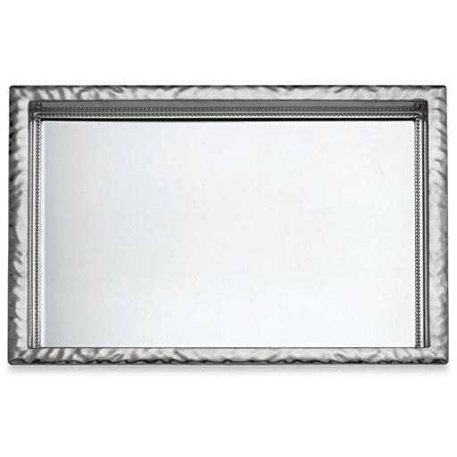 Reed & Barton - Heritage Banded Bead Mirror Tray - Large