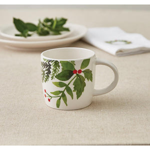 Winterberry 14 oz. Multicolor Ceramic Coffee Mug