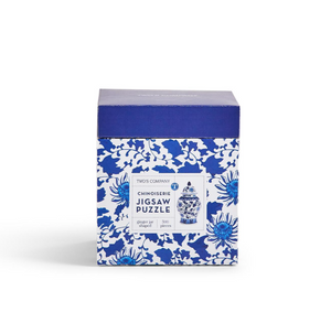 Two's Company - Blue and White Ginger Jar Shape 500 Pc Jigsaw Puzzle - Paper