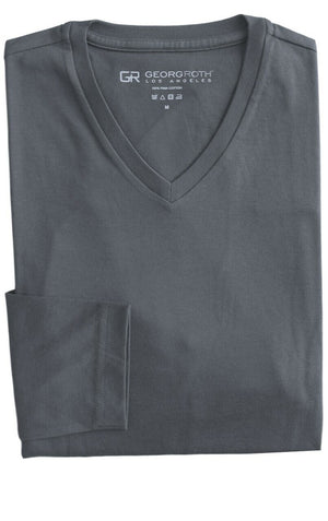 ROTH V NECK CTN MERCERIZED L/SL TEE