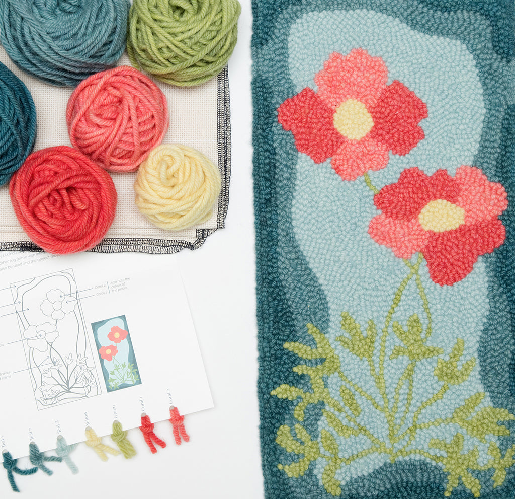 alpine poppy punch needle kit