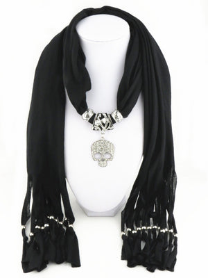 Skull Necklace Scarf