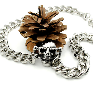 Skull Necklace Bracelet Set