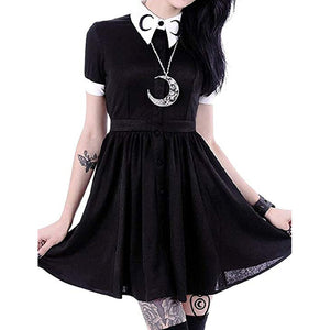 Black Button Dress