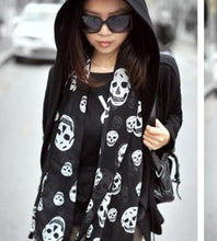 Load image into Gallery viewer, Chiffon Skull Scarf