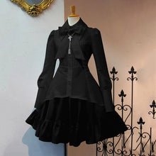 Load image into Gallery viewer, Black Gothic Dress