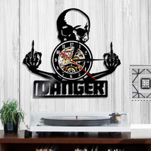 Load image into Gallery viewer, Middle Finger Skull Wall Clock