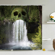 Load image into Gallery viewer, Forest Skull Shower Curtain