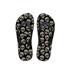 Load image into Gallery viewer, Skull Flip Flops