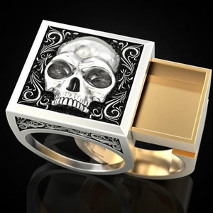 Two Tone Skull Ring