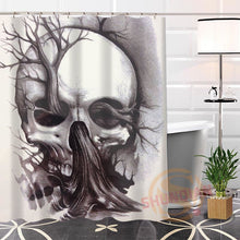 Load image into Gallery viewer, Skull Shower Curtain