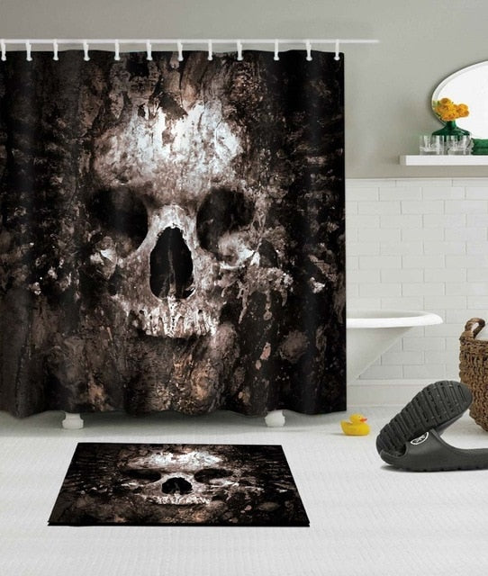 Rotten Skull Shower Curtain