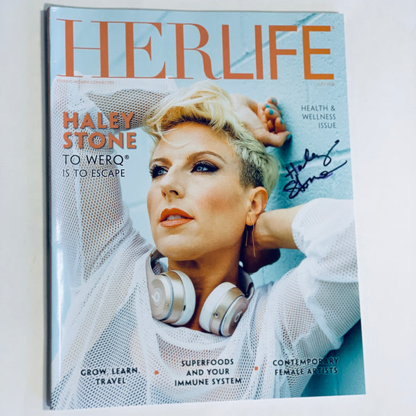 Autographed Haley Stone HERLIFE magazine - The WERQ Shop | Official WERQ Dance Fitness Gear
