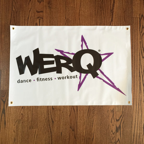 WERQ Dance Fitness Banner 2' x 4' - The WERQ Shop | Official WERQ Dance Fitness Gear