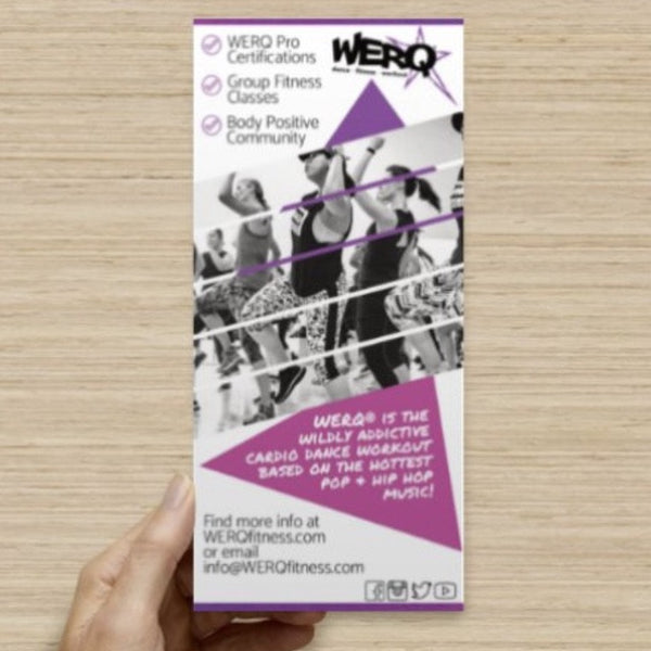 Brochure Cards - The WERQ Shop | Official WERQ Dance Fitness Gear