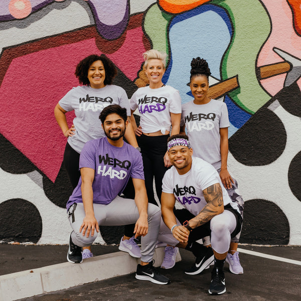 WERQ HARD PLAY HARD Tee - The WERQ Shop | Official WERQ Dance Fitness Gear