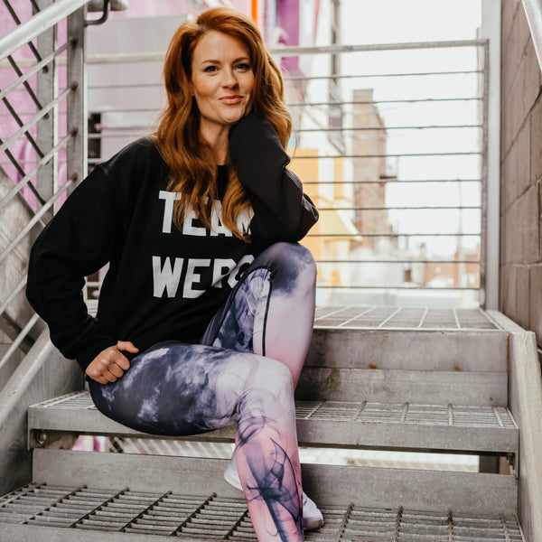 Purple Smoke Leggings - The WERQ Shop | Official WERQ Dance Fitness Gear